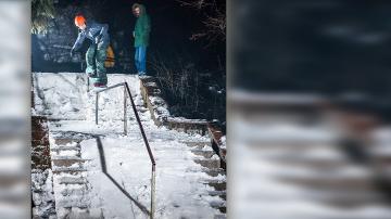 Ето как се кара сноуборд в града