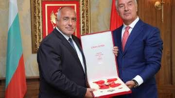 Бойко Борисов беше награден с най-висшето държавно отличие на Черна гора