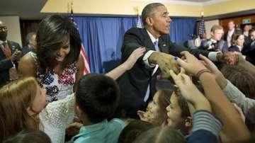 Мишел и Барак Обама сред децата на служителите в американскот опосолство в Куба