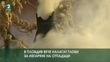В Пловдив вече налагат глоби за изгаряне на отпадъци