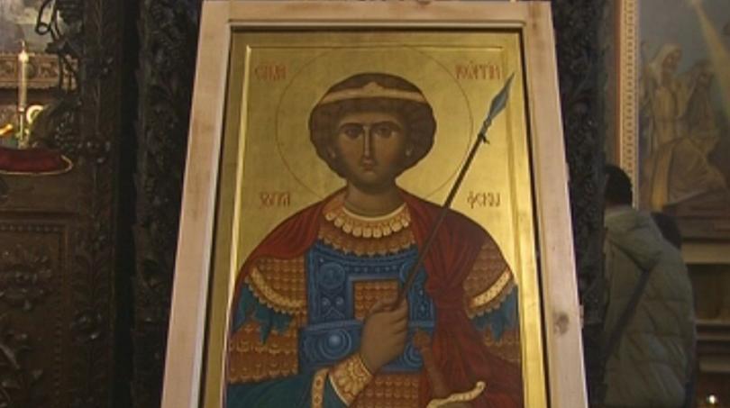 Икона на Свети Георги от Зографския манастир пристига в събота в София