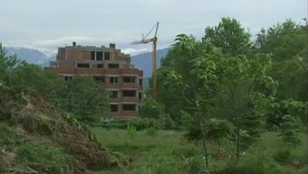 Жители от Гоце Делчев на протест срещу застрояването на зелена площ в квартала