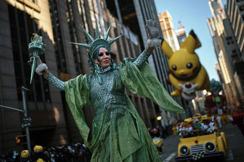 снимка 1 Рекорден студ за Деня на благодарността в Ню Йорк (СНИМКИ)