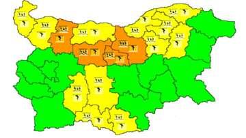 Опасно време днес в 16 области