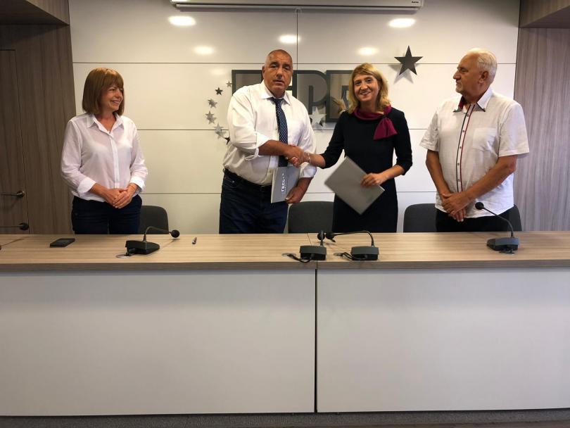снимка 1 ГЕРБ подписа рамкови политически споразумения с Обединени земеделци и БДФ