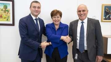 Първа среща на Владислав Горанов с Кристалина Георгиева като шеф на МВФ
