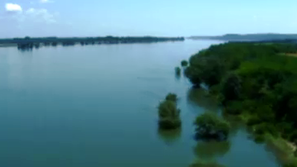 Нивото на река Дунав от хеликоптер