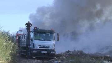 Голям пожар бушува край Свищов