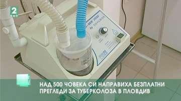 Над 500 човека си направиха безплатни прегледи за туберкулоза в Пловдив