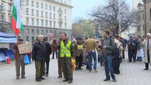 Контрапротестът против окупацията на Ректората