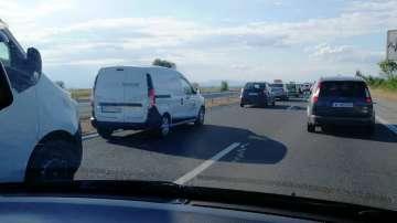 Километрично задръстване на магистрала Тракия заради ремонти