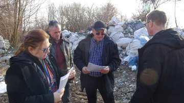 МОСВ разкри нерегламентирана площадка за отпадъци край Силистра
