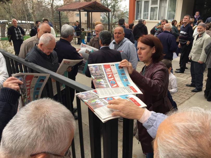 снимка 1 Избирателният процес в една от секциите в Бурса е временно прекъснат
