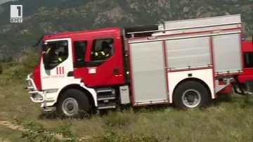 Огнеборци тренираха за първи път нови методи за гасене на пожари