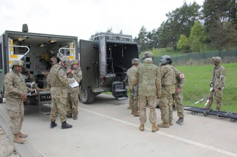 снимка 1 Екипи на ВМА участваха в учение с американски колеги в Германия (СНИМКИ)