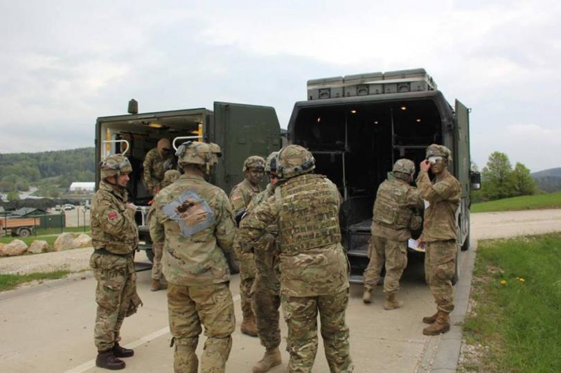 снимка 2 Екипи на ВМА участваха в учение с американски колеги в Германия (СНИМКИ)