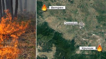 Локализирани са двата пожара в землището на Ветрен и край двореца Кричим