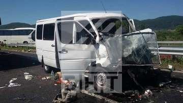 Десетки пострадали при тежка катастрофа на АМ Тракия (СНИМКИ + ВИДЕО)