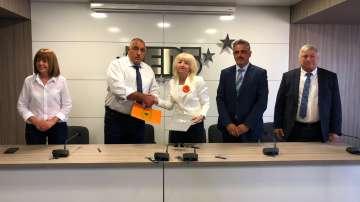 ГЕРБ подписа рамкови политически споразумения с Обединени земеделци и БДФ