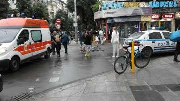 Велосипедист пострада в района на Съдебната палата в София
