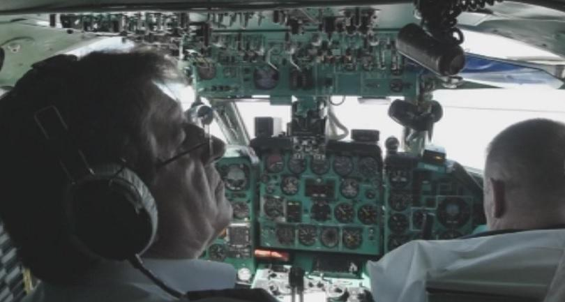 Снимка: Последен полет на Ту-134 в Русия