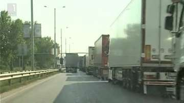 Опашка от ТИР-ове на ГКПП Дунав мост