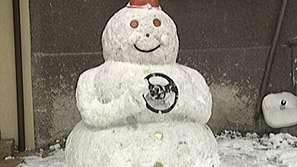 Огромен снежен човек