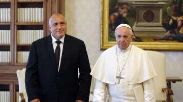 Премиерът Бойко Борисов на аудиенция при папа Франциск (ГАЛЕРИЯ)