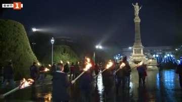 В Русе изгориха копие на Ньойския договор