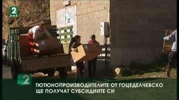 Тютюнопроизводителите от Гоцеделчевско ще получат субсидиите си