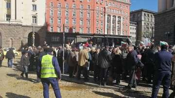 Протест заради сделката с ЧЕЗ пред Министерския съвет