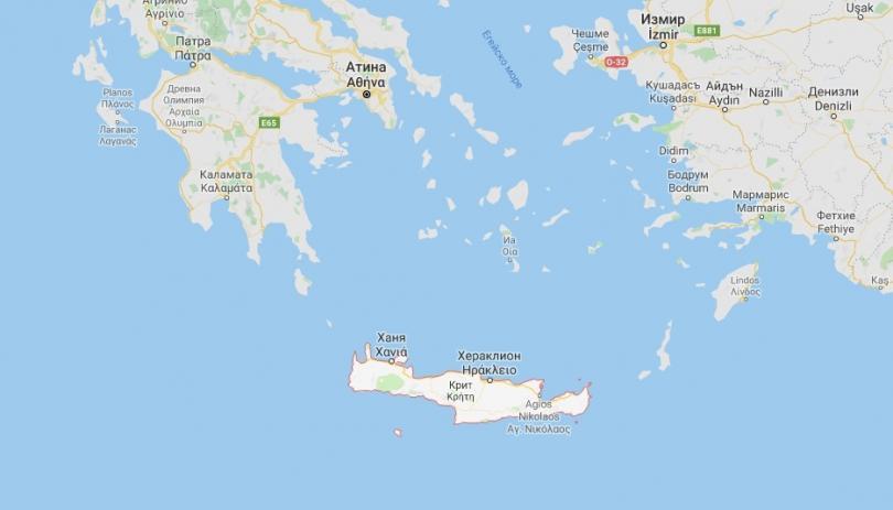 силно земетресение регистрирано остров крит