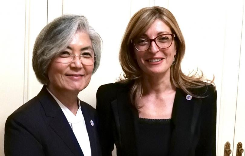 Екатерина Захариева се срещна с външния министър на Република Корея
