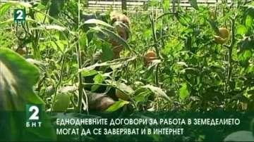Еднодневните договори за работа в земеделието могат да се заверяват и в...