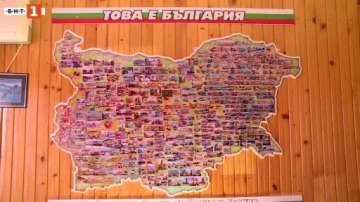 Русенец създаде карта на България от магнити