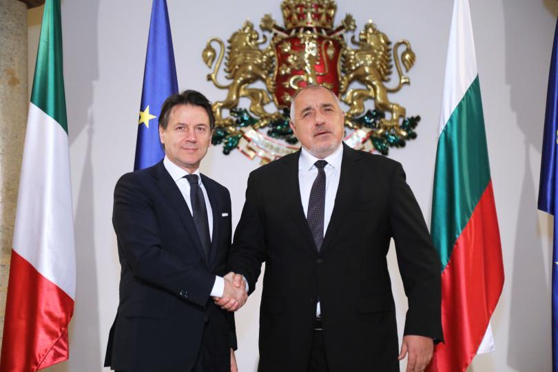 Премиерът Борисов се срещна с италианския си колега Джузепе Конте (Снимки)