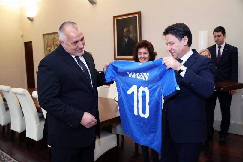 снимка 2 Премиерът Борисов се срещна с италианския си колега Джузепе Конте (Снимки)