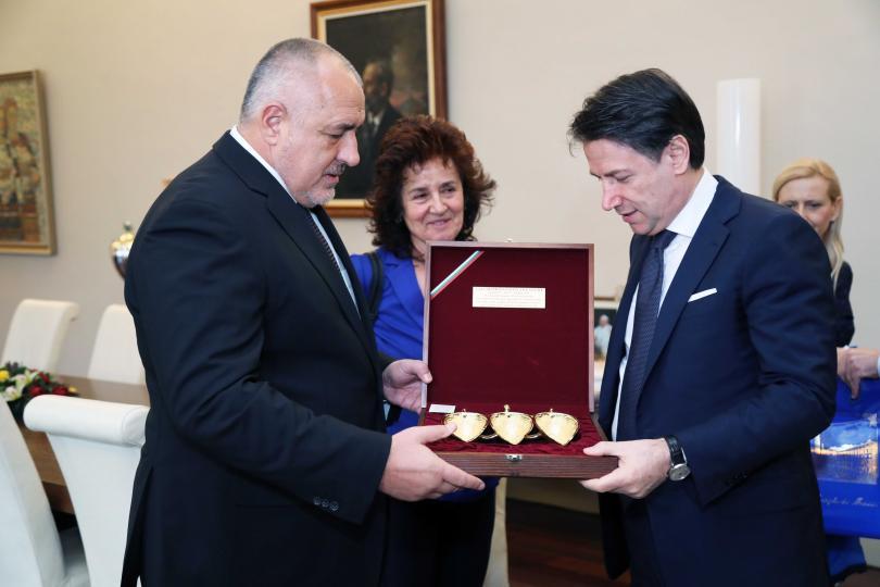 снимка 1 Премиерът Борисов се срещна с италианския си колега Джузепе Конте (Снимки)