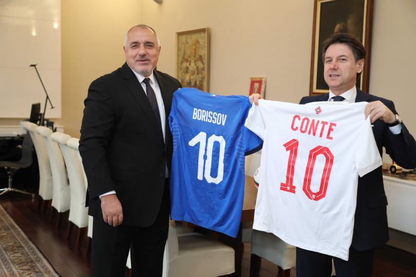 снимка 4 Премиерът Борисов се срещна с италианския си колега Джузепе Конте (Снимки)