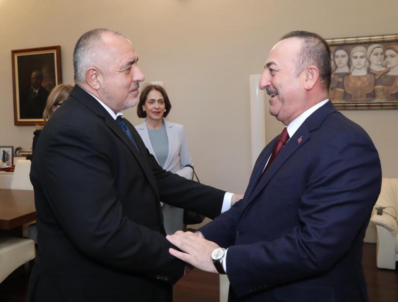 снимка 2 Бойко Борисов се срещна с турския външен министър Мевлют Чавушоглу