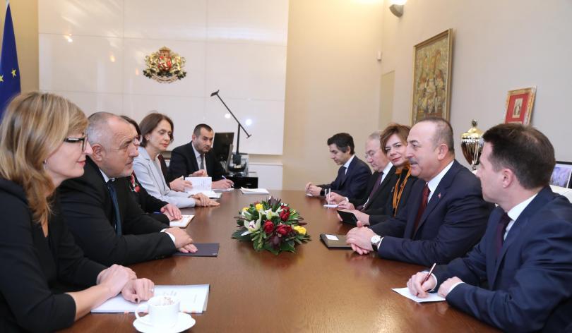 снимка 1 Бойко Борисов се срещна с турския външен министър Мевлют Чавушоглу