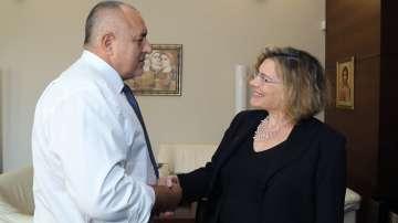 Бойко Борисов се срещна с посланика на Франция в България Н. Пр. Флоранс Робин