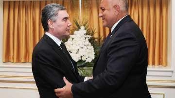 Бойко Борисов и туркменистанския президент Гурбангули Бердимухамедов