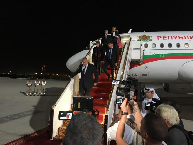 Премиерът Бойко Борисов кацна на летището в Абу Даби. Премиерът