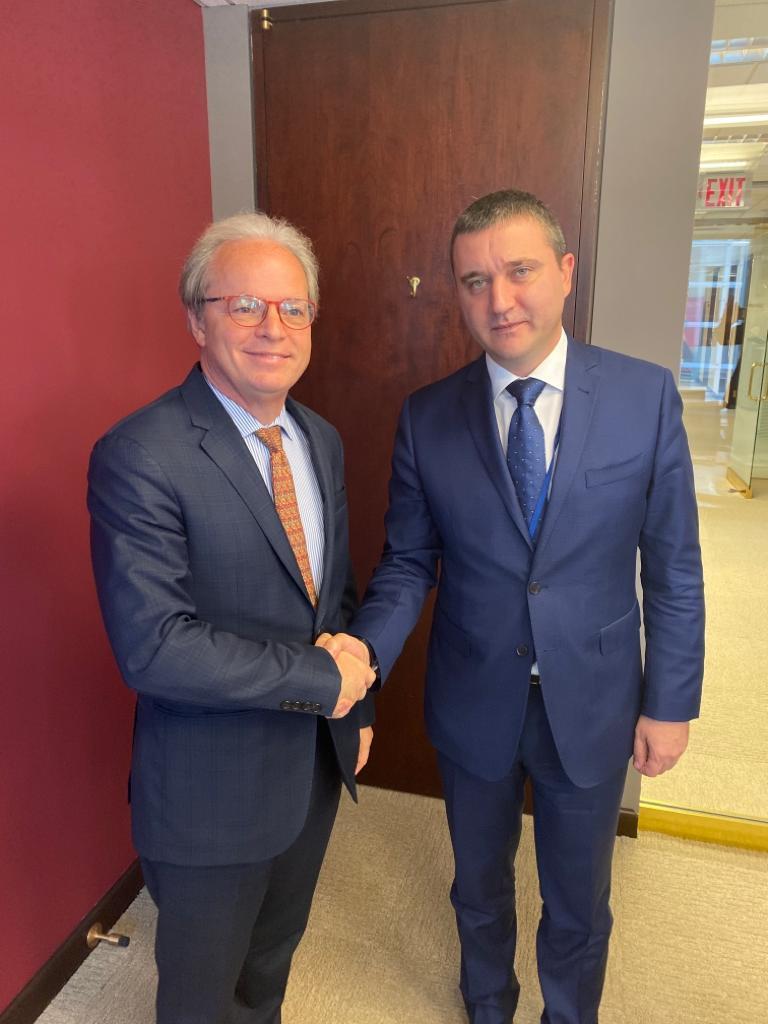 снимка 1 Първа среща на Владислав Горанов с Кристалина Георгиева като шеф на МВФ