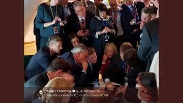 Снимка на посланик Димитър Цанчев стана хит на срещата на върха на ЕС