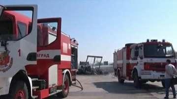 Няма обгазяване от запалилия се ТИР на магистрала Марица