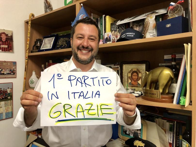 """снимка 2 """"Лига"""" печели евроизборите в Италия"""