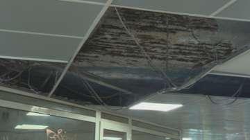 Срути се част от покрива на подлеза пред Спортната палата в София