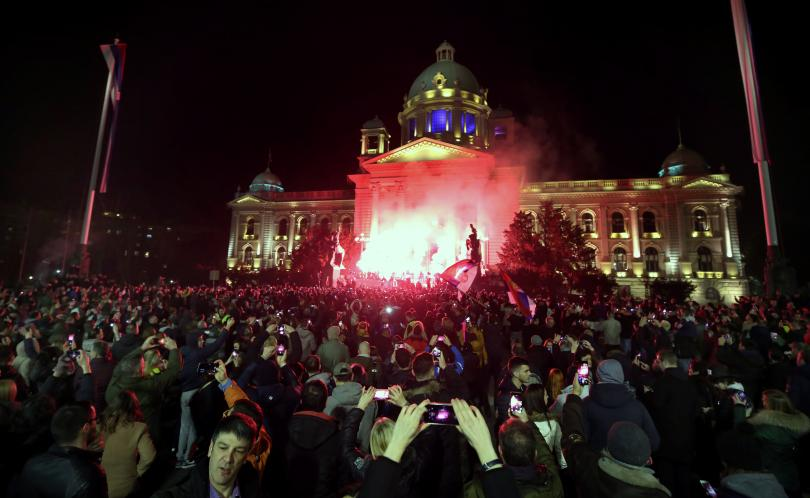 Антиправителствени протести в Сърбия - 17.02.2019 г.